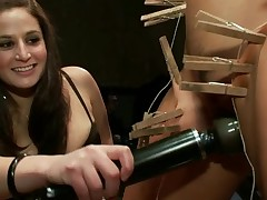 Slutty sex slave receives a nasty public punishment