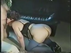 A chubby lady gets all dressed up in her slutty lingerie and goes down on all fours. Expecting to be fucked from the back, she's surprised to see the dick in her face. Luckily, she adapts quickly and sucks on it.