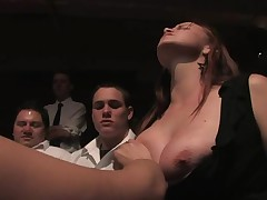 Worthless slut must endure a gruelling public torture