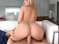 Cuties with great butts engulf ramrods and bound on 'em so fast