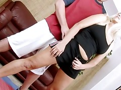 Horny older lady widen legs to receive deeply permeated